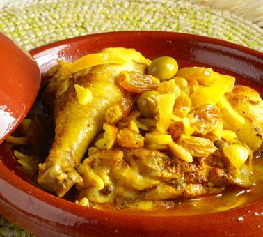 طاجين الدجاج بالزيتون