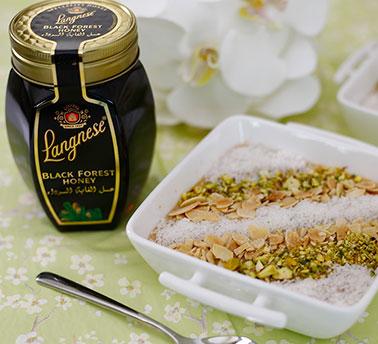 الأرز بالحليب بالعسل